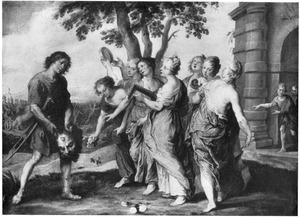 De triomfantelijke intocht van David in Jeruzalem