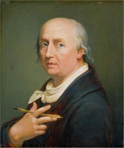 Zelfportret van Johann Heinrich Wilhelm Tischbein (1751-1829)