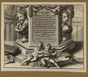 Titelprent met portretten van Rubens en Van Dyck