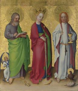 De HH Mattheus, Catherina van Alexandrië, Johannes de Evangelist