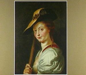 Portret van een jonge vrouw als herderin, mogelijk Suzanna Fourment (1599-1628)