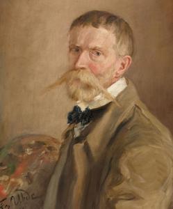 Zelfportret van Fritz von Uhde (1848-1911)