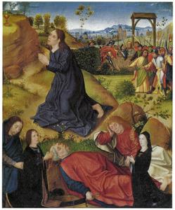 Christus in Gethsemane met stichtersportretten van leden van de familie Jüdden (De Jode)