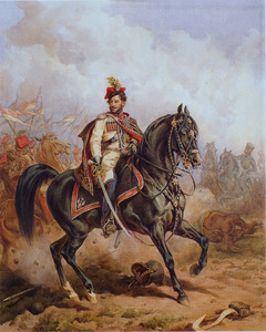 Franciszek Wodzocki als officier in het Krakus Regiment