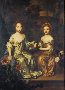 Dubbelportret van de gezusters Lady Henrietta (1677-1730) en Lady Mary Hyde (+1709) als kinderen