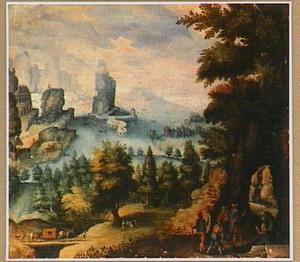 Opening van het graf van Riquilda door haar vader en de heilige Guarinus
