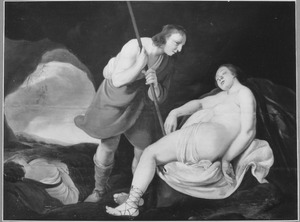 Cimon bespiedt de slapende Iphigeneia
