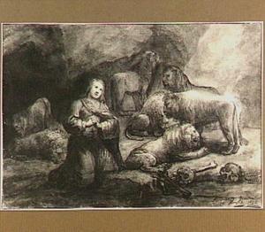 Daniel in de leeuwenkuil door de leeuwen ongemoeid gelaten (Daniel 6: 17-18)