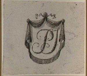 Cartouche met initialen