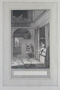 Illustratie bij 'De looze meisjes' uit de Fabelen en vertelsels van F.C. Gellert
