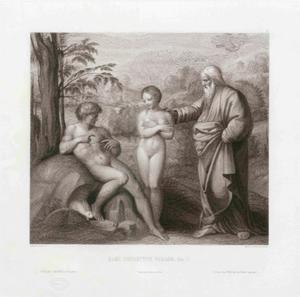 God brengt Eva naar Adam (Genesis 2:22)