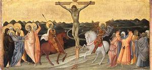 Kruisiging met Maria, Johannes, Maria Magdalena, de H. Longinus en de gelovige hoofdman