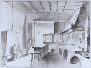 Interieur van een Italiaanse keuken