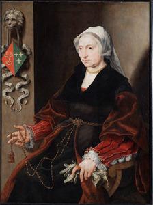 Portret van Wilhelmina Palinc, echtgenote van Andries Willemsz. van Sonnevelt, genaamd van Oudshoorn