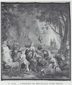 Mozes slaat op de rots (fragment: Moses niet zichtbaar)