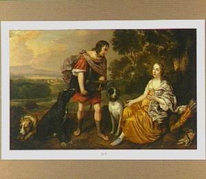 Portrait van een onbekende man en vrouw als Meleager en Atalanta