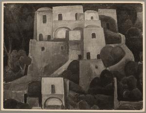 Groep huizen in Positano