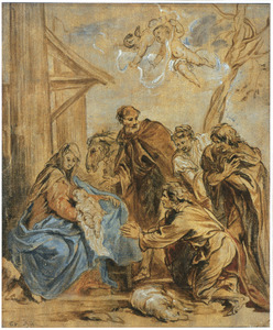 De aanbidding van de herders (Lucas 2:15-18)