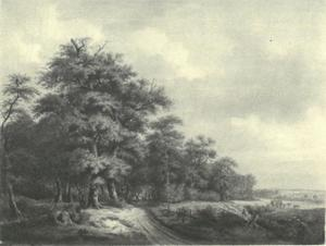 Landschap met bosrand