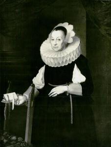Portret van de echtgenote van Balthazar Camerlocher