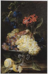 Silleven met vruchten op een tazza