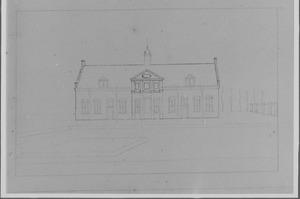 Voorzijde van de ridderhofstad Nieuw-Amelisweerd bij Bunnik