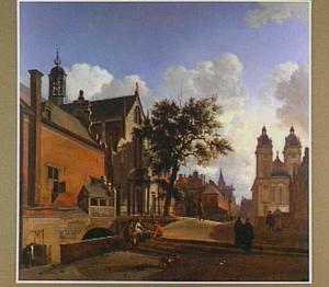 Gezicht op de Andreaskerk in Düsseldorf
