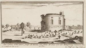 Gezicht op de katholieke begraafplaats in Augsburg