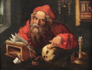 Heilige Hieronymus in zijn studeerkamer