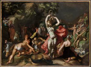 Mozes slaat water uit de rots (Exodus 18:6)