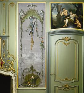 Rocaille-ornamenten met verwijzingen naar de zomer