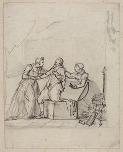 Hugo de Groot gevlucht uit slot Loevesteyn in een boekenkist (1621)