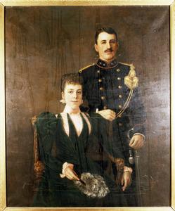 Dubbelportret van Coenraad Alexander Prins (1871-1954) en Marie Isabelle Francoise Waller (1874-1941)