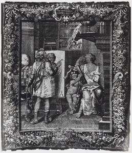 Apelles schildert Campaspe, de concubine van Alexander de Grote