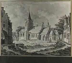 Dorpsgezicht met kerk