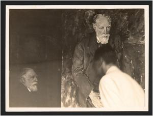 Val van Uytvanck schildert het portret van James Ensor