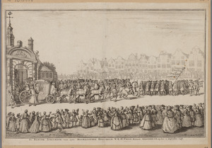 Intocht van Willem IV in Amsterdam in 1748