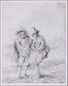 Quevedo en de bedelaar bij de brede en de smalle weg (Suenos 1641, boek VI, vijfde droom)