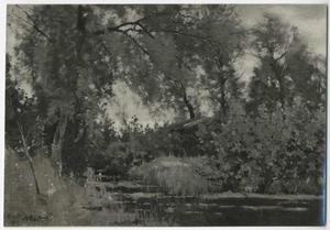 Achter mijn atelier Breukelen. September 1881