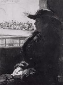Portret van Mathilde Auguste Elisabeth Maria Wubbe (1875-1943)