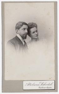 Dubbelportret van Johannes Nicolaas Voorhoeve (1873-1948) en Elizabeth van Oordt (1877-1968)