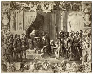 Koningin Bianca van Sicilië verleent Don Antonio Moncada volmachten om de Staten Generaal bijeen te roepen
