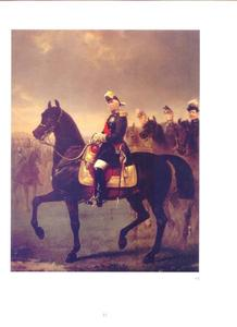 Ruiterportret van Marie Edmé Patrice de Mac-Mahon, Hertog van Magenta, Maarschalk van Frankrijk, President van de Republiek