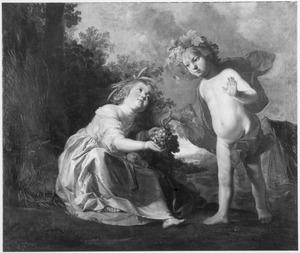 Allegorie van de herfst: twee kinderen als Bacchus en Ceres