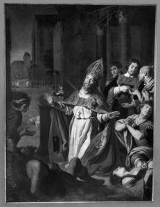 De H. Macharius te midden der pestlijders