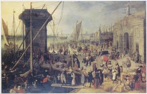 Het kranenhoofd aan de Schelde te Antwerpen