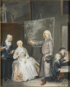 Dirck Dalens III met zijn tweede echtgenote, dochter en twee zoontjes