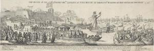 Aankomst van koningin Catharina van Braganza in Portsmouth