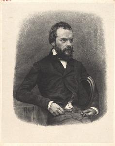Portret van Jan Weissenbruch (1822-1880)