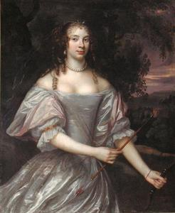 Portret van een vrouw genaamd Henriette van Aerssen van Sommelsdijk (1647-1721)